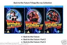 BACK TO THE FUTURE TRILOGY ALL 3 MOVIE FILM BLU RAY TRIPLE New Sealed UK Release
