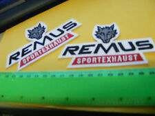 Remus Sport Exhaust...lot of  2 iron-on  Embroidered Patches.