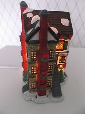 CHRISTMAS HOLIDAY VILLAGE LIGHT UP TAVERN*COBBLER SHOP*HOUSE-EXC