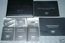 2009 Bentley Continental Flyng Spur Speed Owners Manuals - SET