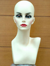 Amazing Female Mannequin Head Shop Display Hat WigScarf