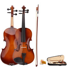 4/4 Full Size Natural Acoustic Violin Fiddle with Case Bow Rosin Valentine Gift