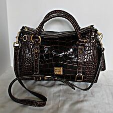 Dooney & Bourke - Small Croc Leather Satchel - Brown T Moro crocodile NWT