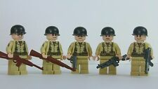 Custom WW2 US Army Soldier Minifigure Squad made with real LEGO