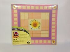 Scrapbook Album 12 X 12 Postbound Flower Print Cover New