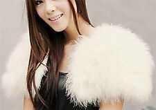 Real Ostrich Feather Fur coat Shrug Jacket Wedding bolero bridal 6 colors size