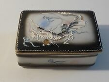 Vintage Moriage Dragon Ware Porcelain Box - Blue Eyed Dragon