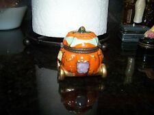 Cinderella's Pumpkin Carriage Porcelain Hinged Trinket Box
