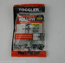 5x Genuine Toggler Anchors Walls Ceilings 159lbs Toggler TC