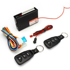 Central Kit Door Locking Vehicle Keyless Entry System W/ 2Pcs Remote Controllers