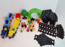 Vintage Playmobil 1 2 3 Train Set Lot With Tracks Trains & Figures