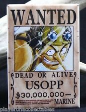 "Usopp Wanted Poster - 2"" X 3"" Fridge / Locker Magnet. One Piece Anime"