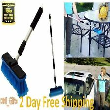 Car Wash Brush Cleaning Washing Tool Telescoping Handle Truck Vehicle RV SUV Mop