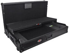 ProX XS-DDJSZWLTBL Black Pioneer DDJ-SZ Hard Case W/Gliding Laptop Shelf+Wheels