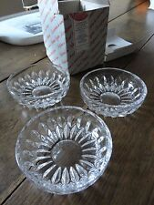 vintage crystal glass sphere bowls set 3 nachtmann Bleikristall in box