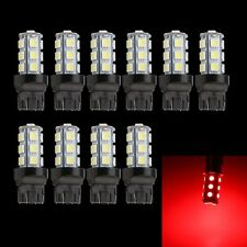 10x 7443 Red 18SMD 5050 Reverse Back Up/Tail/Brake/Stop/Turn LED Light Bulbs
