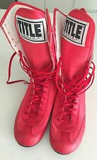 TITLE Designer  HIGH Top Boxing Shoes SZ 8