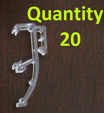 """Qty 20 of 1"""" Mini Blind Double Slat Valance Retainer Clips"""
