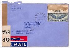 AU44 1940 USA *NEW YORK* Dixie Clipper Surrey GB Cover {samwells-covers}PTS