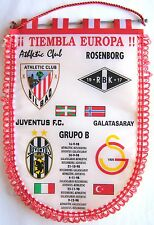 BANDERIN ATHLETIC CLUB BILBAO CHAMPIONS LEAGUE 98-9 JUVENTUS PENNANT GALLARDETE