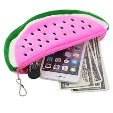 Cute Watermelon Plush Stationery Pencil case Pen Purse Bag Lovely Cosmetic Pouch