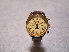 STAUER MEN'S 39mm ROSE GOLD MULTI-FUNCTION AUTOMATIC WATCH #17639