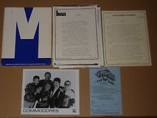 Commodores 1985 US Motown Press Pack