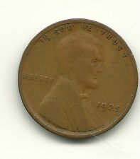 1925 LINCOLN WHEAT PENNY. NICE SHAPE. NO RESERVE AUCTION