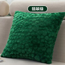 Solid Color Big Small Polka Dots Mix Soft Velvet Cushion Cover Pillow Case New
