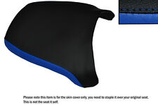 BLACK & R BLUE CUSTOM FITS YAMAHA YP 400 MAJESTY 04-06 REAR LEATHER SEAT COVER