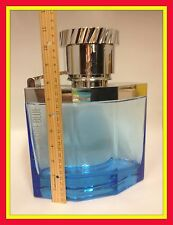 "DUNHILL DESIRE BLUE HUGE GLASS FACTICE PERFUME BOTTLE ""EMPTY"""