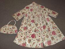 Vintage 60's tapestry coat & matching handbag MUST SEE! floral carpet bag MINT!