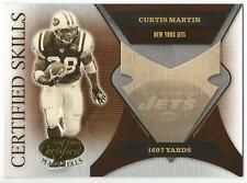 CURTIS MARTIN 2005 Certified Skills card #CS-15 New York Jets Football /750 NM