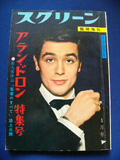 1961 Alain Delon Japan VINTAGE Photo Book 136 Pages VERY RARE Romy Schneider