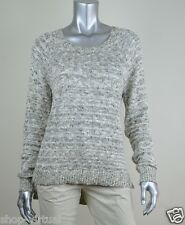 INC New Beige Metallic Sequin Knit Ribbed Pullover Sweater Top MSRP $59 Size XL