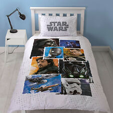 STAR WARS ROGUE 1 ONE SINGLE DUVET SET QUILT COVER KIDS BEDROOM REVERSIBLE DARTH