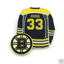 Boston Bruins ZDENO CHARA Player Logo Jersey Lapel Hockey Pin !!!!