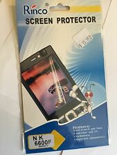 Screen Guard Protector Clear for Nokia 6600F SCG4356. Brand New & Sealed in pack