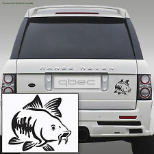 CARP fishing Car/Bamper/Window/Laptop Vinyl Decal Sticker BLACK!!! 10cm x 9cm