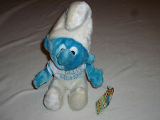 NEW W TAG HAPPY BIRTHDAY SMURF  PLUSH BEAN BAG 1979 WALLACE BERRIE PEYO NWT TOY