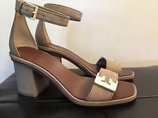 New Authentic Tory Burch Gabrielle Sandal Fumo Suede Size 5