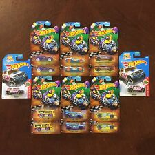 Set Lot Of 2 - 2017 Hot Wheels EASTER Walmart Exclusive 6 Piece + ROCKSTER
