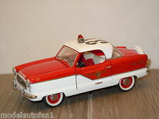 1956 Nash Metropolitan `Metro Fire Chief` van Franklin Mint 1:24 *15255