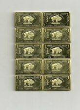 10 x 1 Oz 999 Brass American Buffalo TOP Investment VERY RARE NEW
