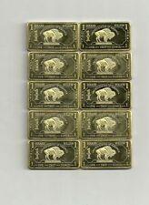 10 x 1 oz 999 Messing Brass American Buffalo TOP Geldanlage ! SEHR SELTEN ! NEU