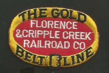 FLORENCE & CRIPPLE CREEK  RAILROAD  THE GOLD BELT LINE    PATCH 2  X 2 7/8   ""