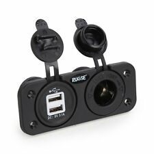 Dual USB Charger Socket Mount Marin+wires 12V Boat Truck Car Plug Power Outlet