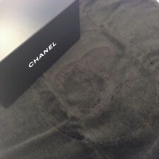 CHANEL BLACK SMALL TOWEL FOR SKINCARE FACE WASH SHOWER  New in Box