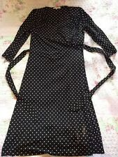 BNWOT Laura Ashley Wrap Over Style Polka Dot Dress-size 12