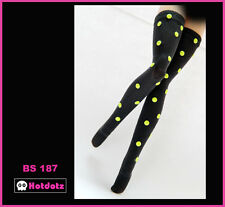 Custom Stockings For Blythe/Monster High/Lalaloopsy - BS187, Fluorescent Yellow
